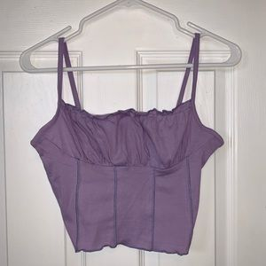 Purple corset spaghetti strap tank top